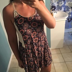 Xhilaration floral and lace dress